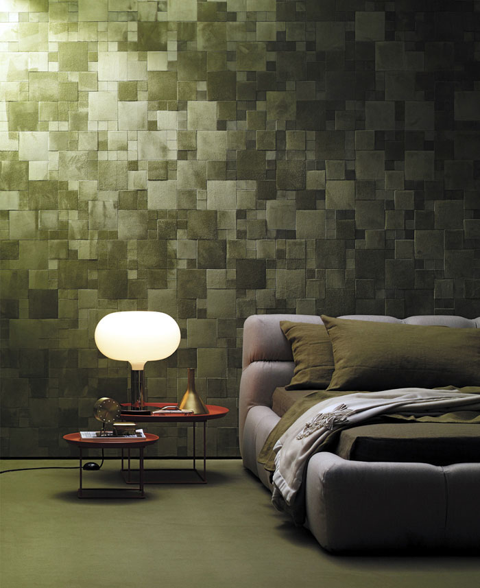 Studioart dressed the walls leather patterns wallcoverings