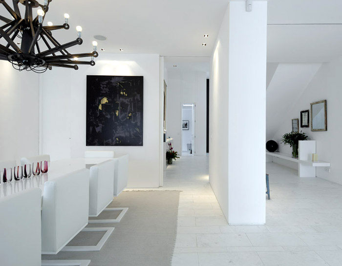 Stylish Sotogrande House modern white diningroom