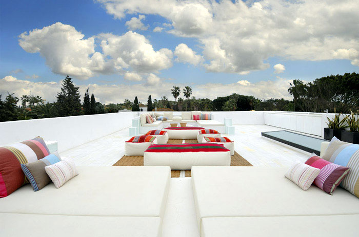 Stylish Sotogrande House roof of the house