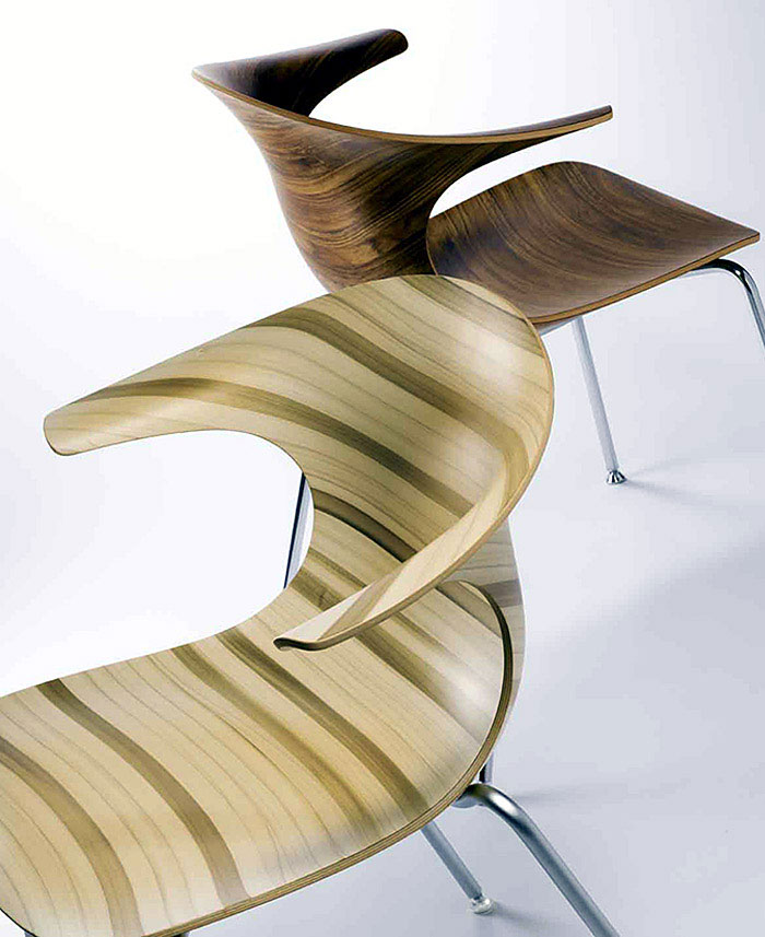 Stacking Chair Infiniti Loop wooden chair