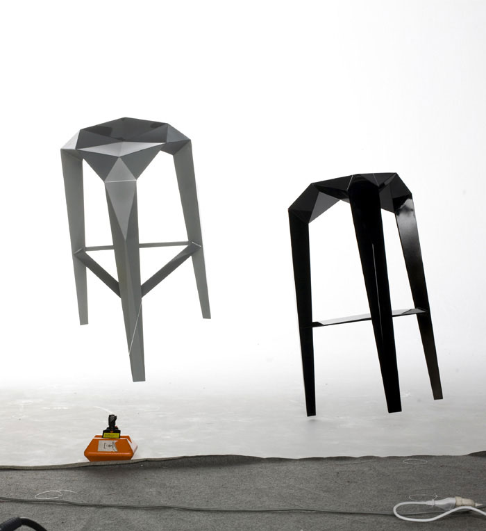Habitus by Sebastian Jansson anthropomorphic structure stool
