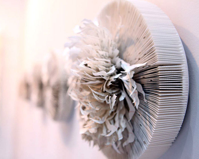 Sculptures Made from Paper by Mia Liu documentary art project.