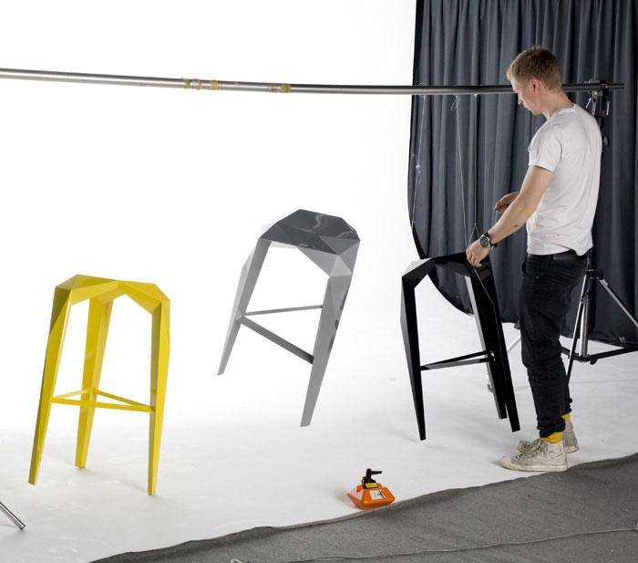 Habitus by Sebastian Jansson geometric form stool
