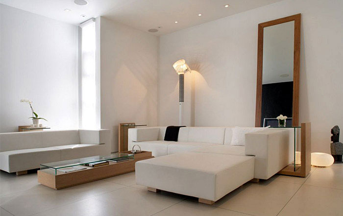 Clean, Modern Aesthetic modern white livingroom