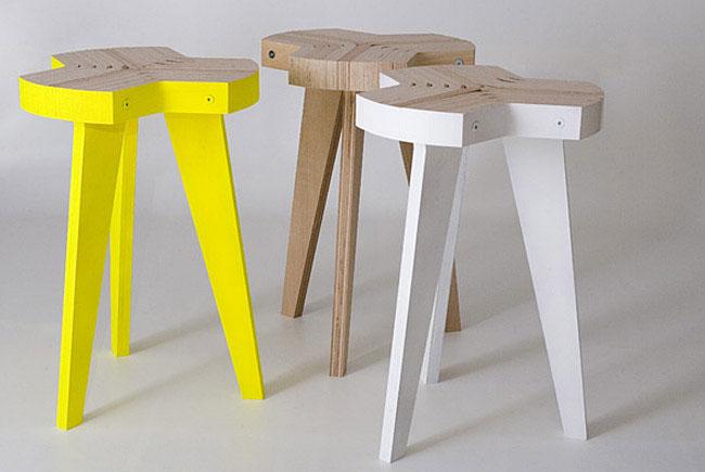 Giorgio Biscaro studio new offset stool