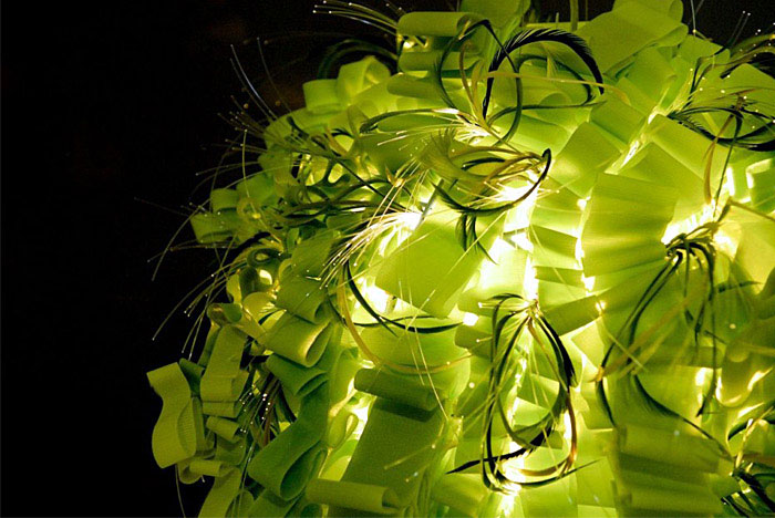 Decorative Lighting  green textile lighting