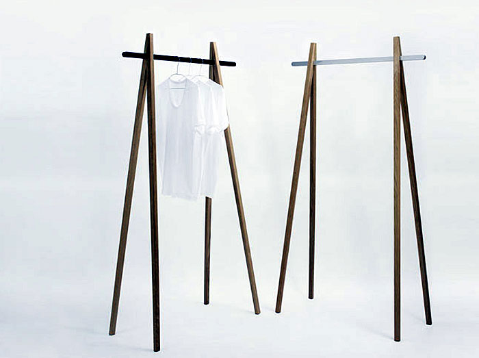 Functional design by Andreas Saxer chop stick wardrobe
