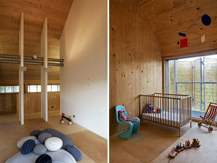 Karawitz Architecture's Modern French Passivhaus Design kids room interior
