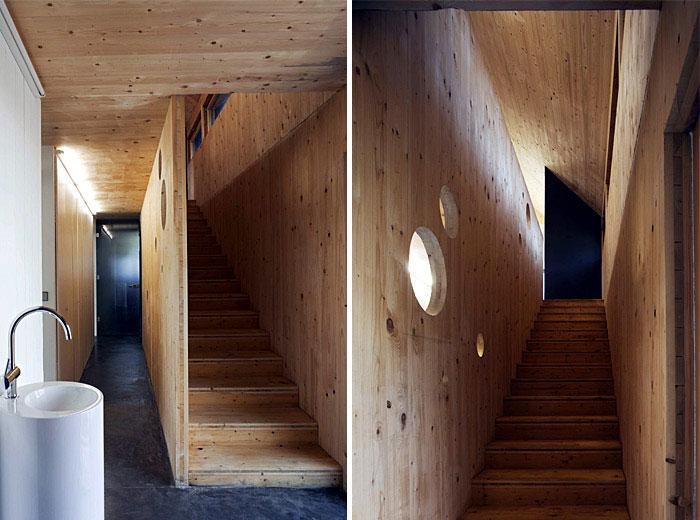 Karawitz Architecture's Modern French Passivhaus Design staircase