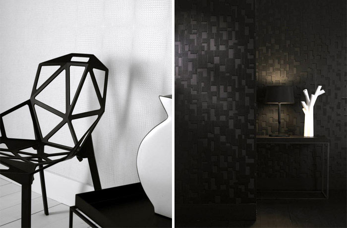Shape and Form collections geometric checkered wallpaper pattern