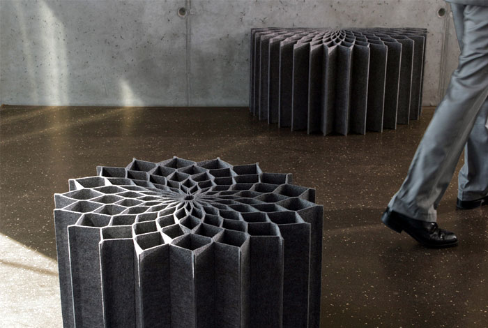 Dahlia by Kai Linke felt seating unit