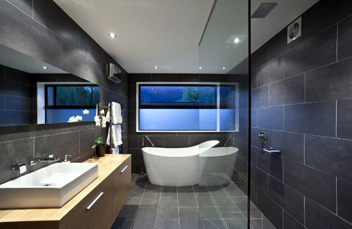 Amazing Design of Shallard House interior design bathroom