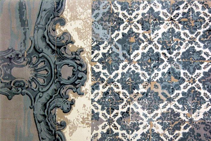 Floors of Tiles Rug rug created javier guerrero