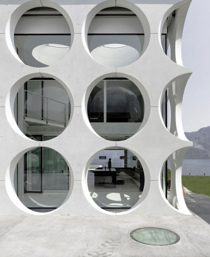 Sculptural Villa in Swtzerland sculptural villa exterior