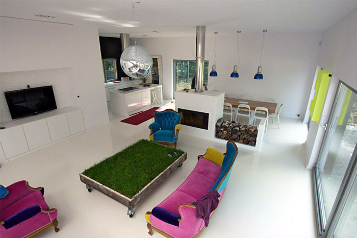 Modern House Near Poznan amazing livingroom design