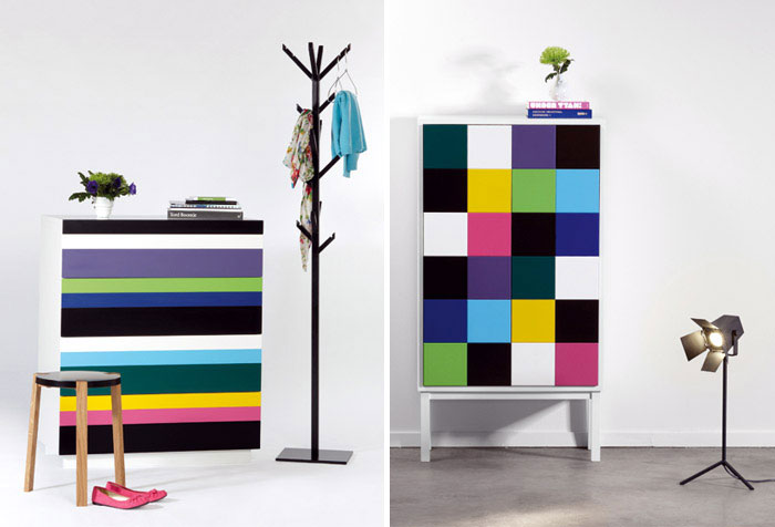 Design Studio A2 furniture design stripe collect pile