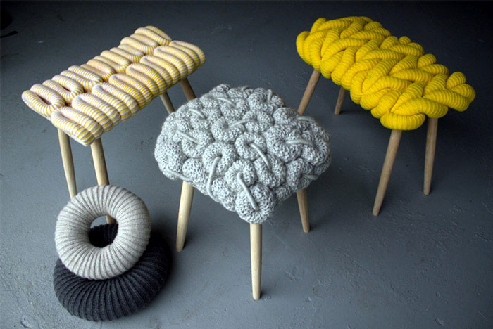 Modular Stitch knitting furniture design