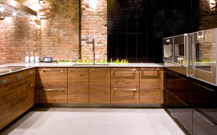 Yaletown Loft  loft kitchen