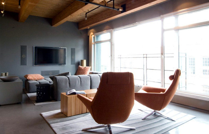 Yaletown Loft  modern warehouse interior