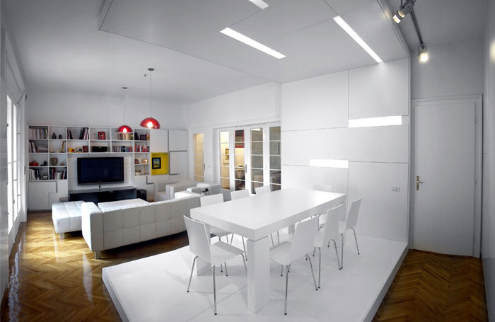 White Apartment by Parasite Studio white apartment interior