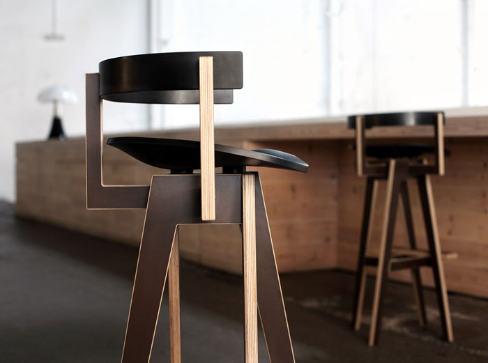 Mediodesign at in the room D3 Design Talents bar stool design