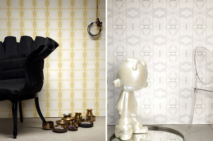 Rich Patterns at The Era Collection cleopatra gold wallpaper