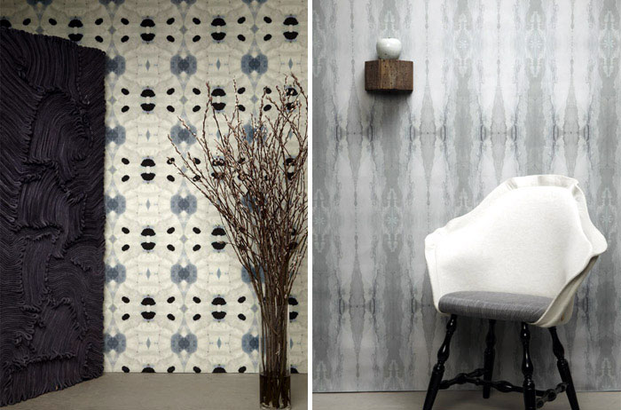 Rich Patterns at The Era Collection galileo glass shale wallpaper