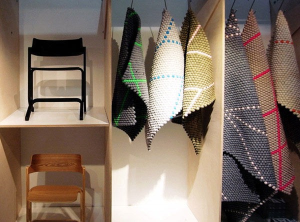 Geometric Textiles for the Home hand stitched carpets