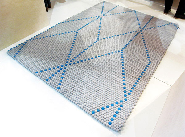 Geometric Textiles for the Home modern hand stitched carpets