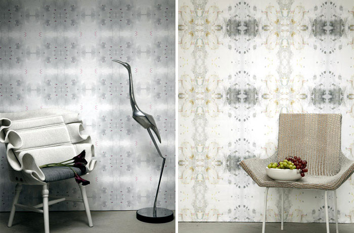 Rich Patterns at The Era Collection rococo amethyst wallpaper