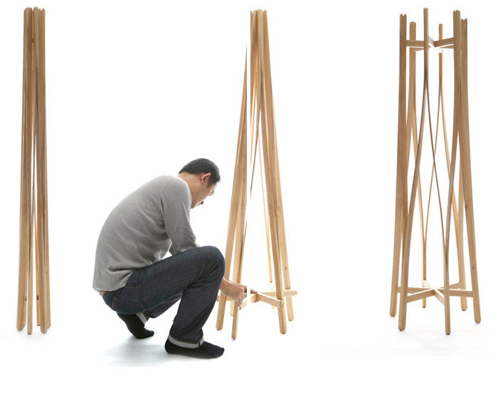 Flat Pack Coat hanger by Aesthetic Studio coat hanger design