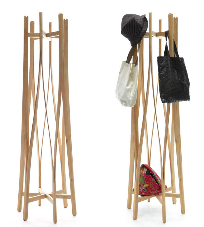 Flat Pack Coat hanger by Aesthetic Studio product design coat hanger