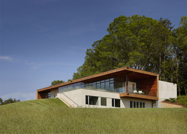 A hilltop residence stylish home green architecte