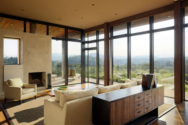 A hilltop residence stylish home living area