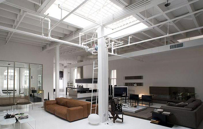 Loft or Showroom? contemporary interior living area