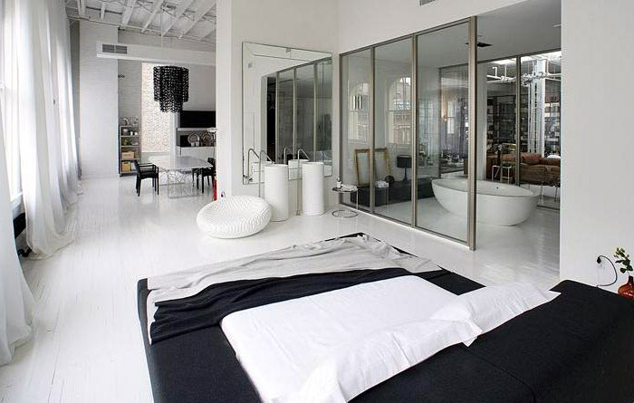 Loft or Showroom? contemporary lifestyle bedroom