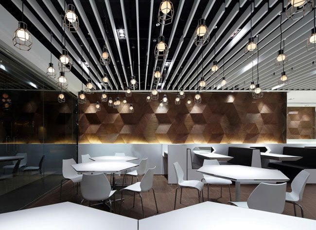 Trendy and fashionable restaurant interiorzine
