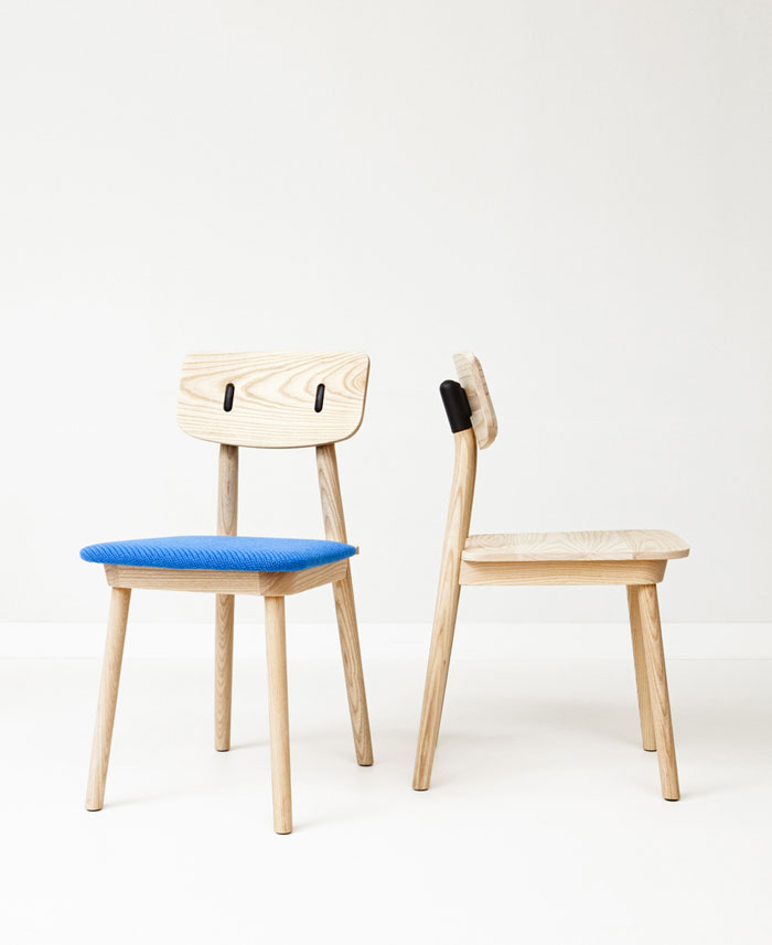 Dutch furniture brand De Vorm at Milan furniture design clip chair
