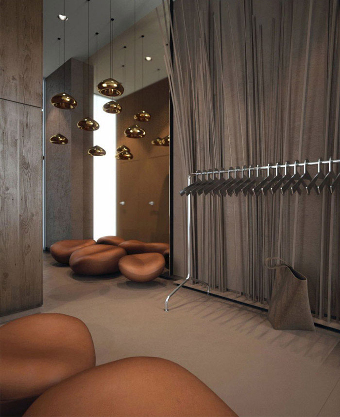 Interior for a lady's wear boutique based in Kiev - InteriorZine