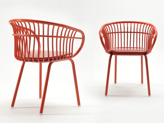 Curved aluminum chair interiorzine for Product design chair