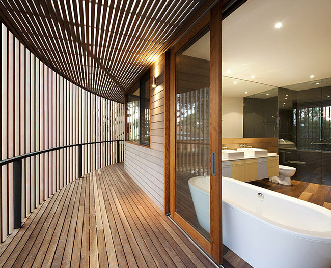 Contemporary Sculptural Building contemporary sculptural house bathroom