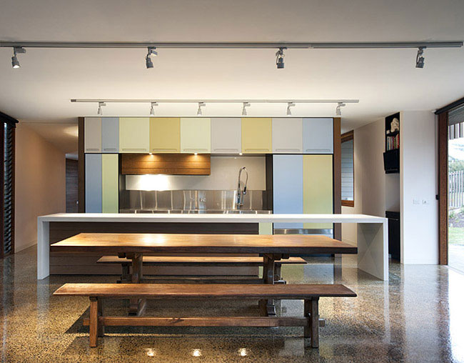 Contemporary Sculptural Building contemporary sculptural house kitchen interior