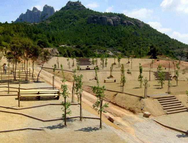 Nature Leisure Area in Montserrat landscape architecture park