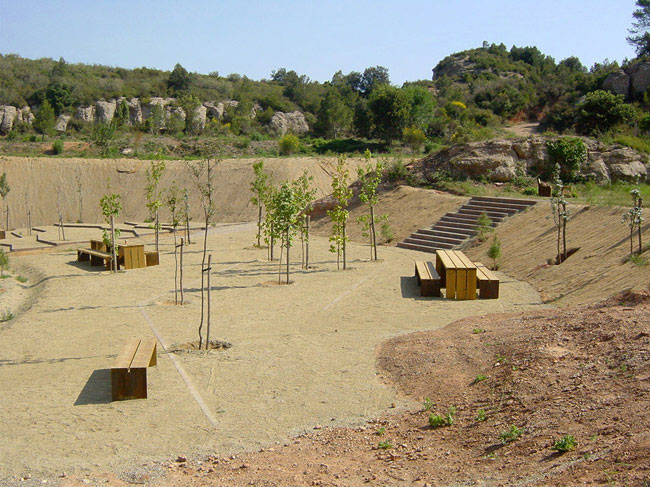 Nature Leisure Area in Montserrat new topography landscape architecture