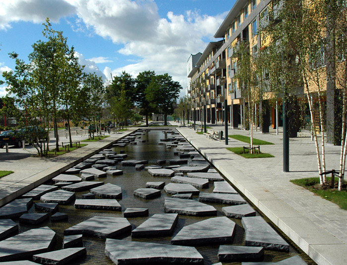 Roombeek the Brook by Buro Sant en Co Landscape Architecture district new central point