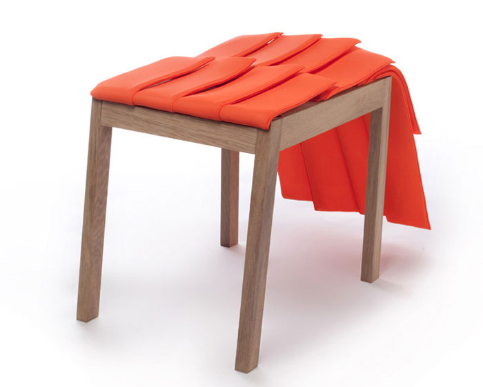 Stools Designed According to Principles of Improvisation sculpture chair textile