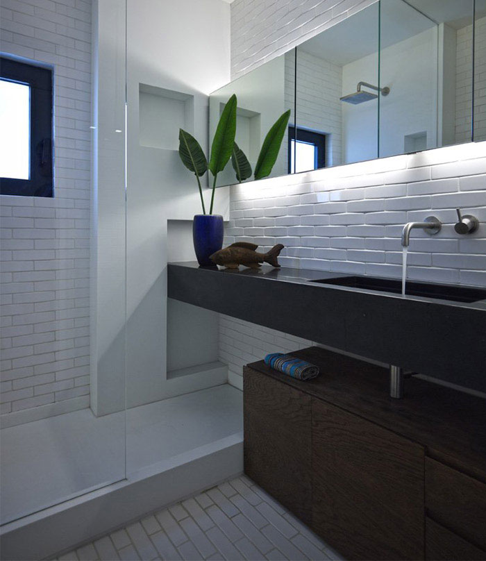 Beautiful remodel of Athens apartment small remodeling project bathroom