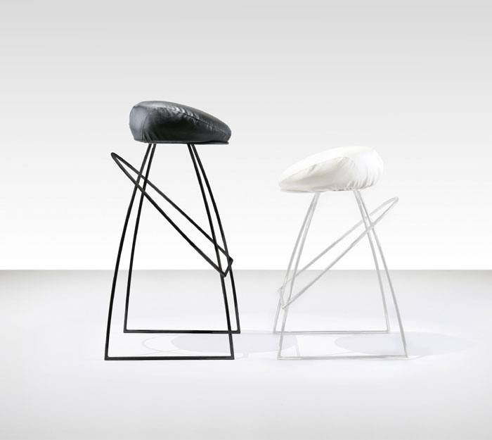 Picciotto  smart stool inspired floppy hat furniture design