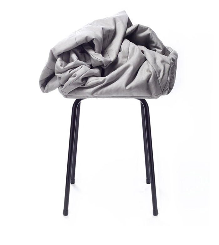 Stools Designed According to Principles of Improvisation stool hiding place for messy objects stool