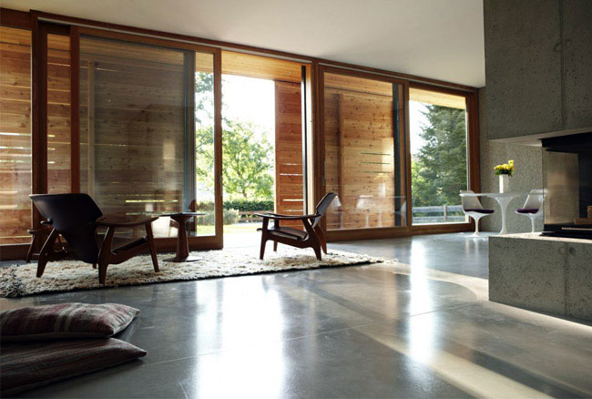 Cool Concrete Interior Cool Concrete Interior Living Room